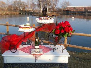 torta sposi lago reale